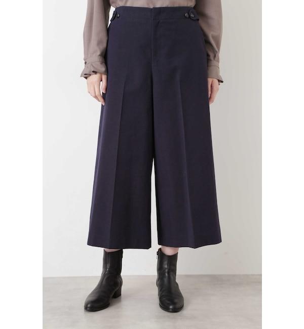 【ヒューマンウーマン/HUMAN WOMAN】 ≪Japan Couture≫ 杢ヘリンボーンパンツ