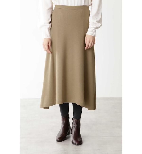 【ヒューマンウーマン/HUMAN WOMAN】 ◆スムースミルドスカート