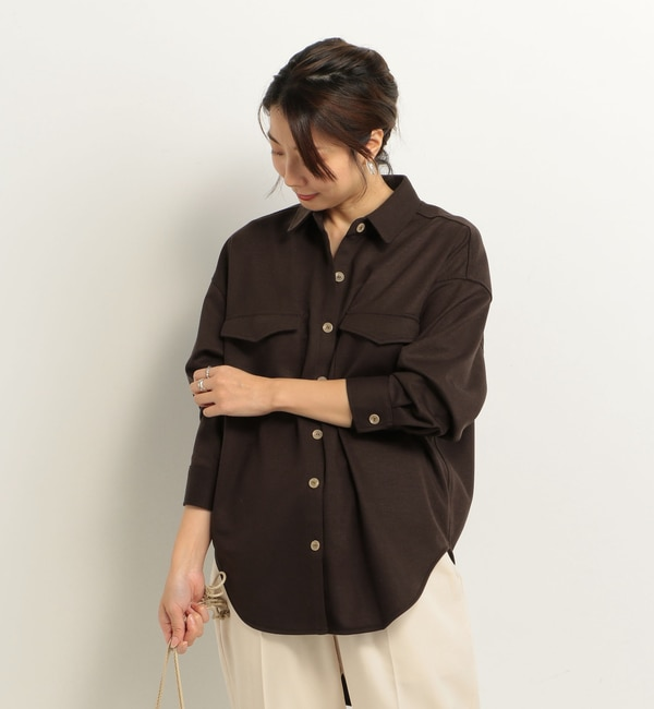 【ドゥアルシーヴ/Doux archives】 T/RポンチCPOシャツ