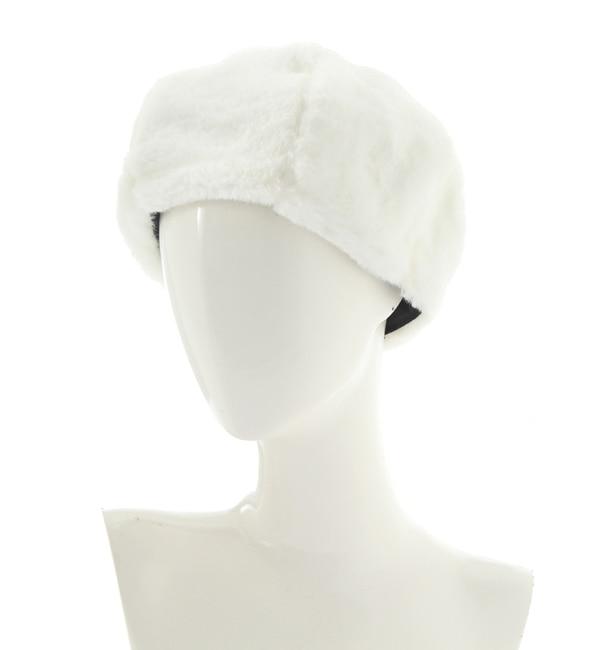 【ルゥ デ ルゥ/Rew de Rew】 フェイクファーベレー帽(8R18-HT001)