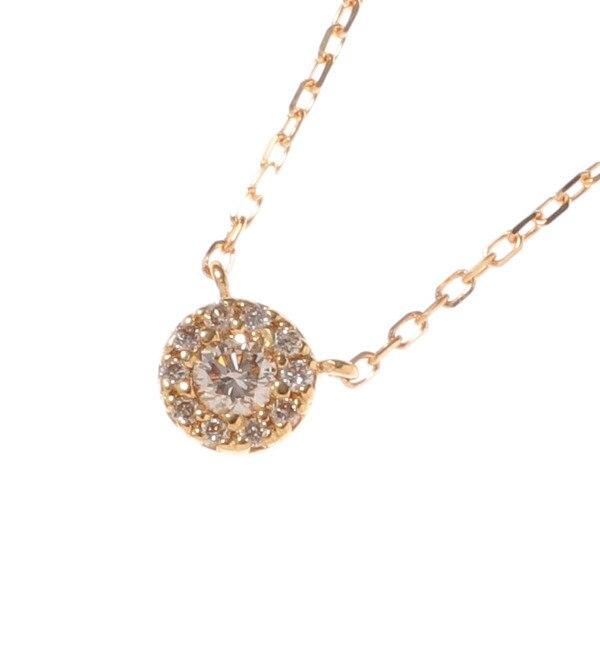 【ココシュニック/COCOSHNIK】 K18ダイヤモンド ラウンド×メレダイヤ ネックレス