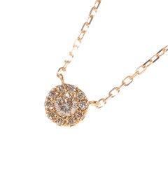 【ココシュニック/COCOSHNIK】 K18ダイヤモンド ラウンド×メレダイヤ ネックレス [送料無料]