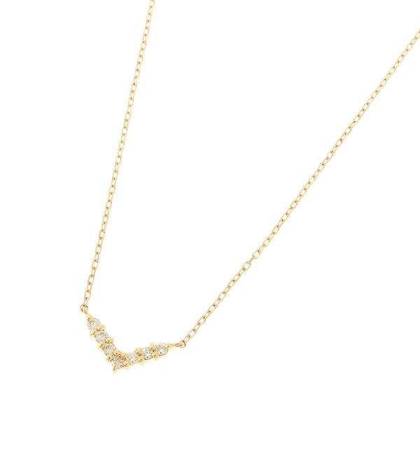 【ココシュニック/COCOSHNIK】 K18ダイヤモンド Vネックレス