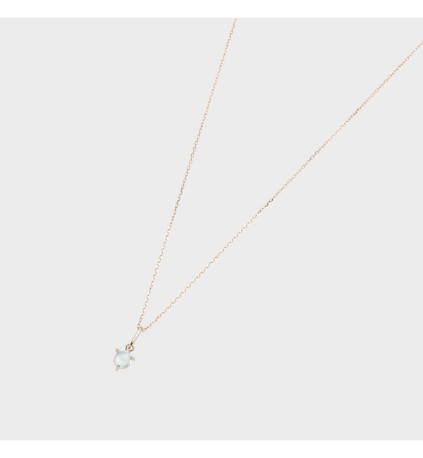 【ココシュニック/COCOSHNIK】 【WEB限定】スピリチュアルストーン(アクアマリン)ネックレス