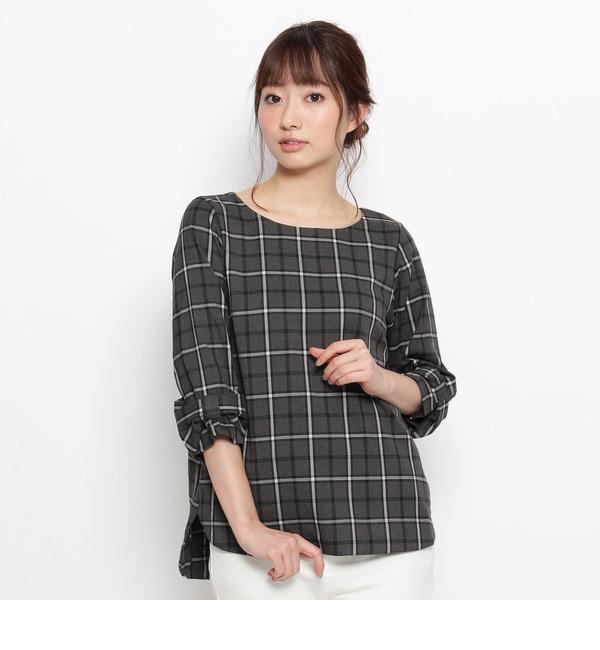 【コルテラルゴ/CorteLargo】 ウインドウペンチェックシャツ [送料無料]