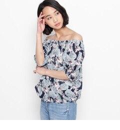 【コルテラルゴ/CorteLargo】 パイナップルプリント2WAYシャツ [送料無料]