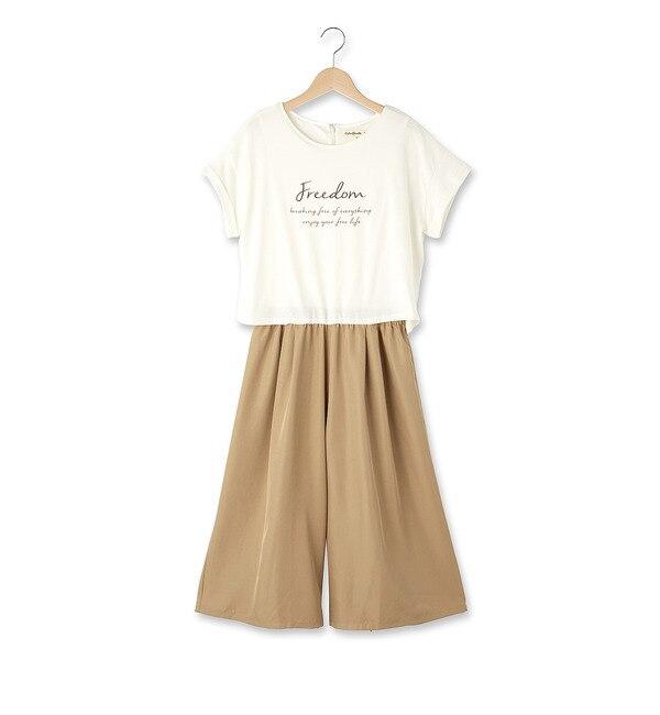 【シューラルー/SHOO・LA・RUE】 ◆Tシャツ×ガウチョコンビネゾン [3000円(税込)以上で送料無料]