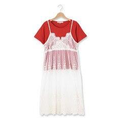 【シューラルー/SHOO・LA・RUE】 レースキャミワンピース+Tシャツ [3000円(税込)以上で送料無料]
