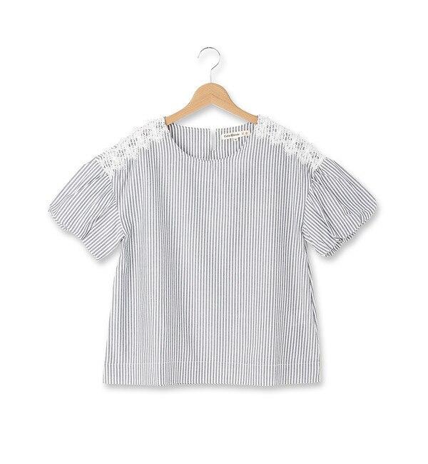 【シューラルー/SHOO・LA・RUE】 カットワーク刺繍バルーン袖ブラウス [3000円(税込)以上で送料無料]