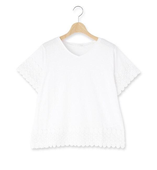 【シューラルー/SHOO・LA・RUE】 袖裾レースプルオーバー [3000円(税込)以上で送料無料]