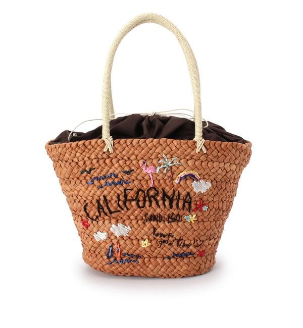 【シューラルー/SHOO・LA・RUE】 刺繍巾着かごバッグ [3000円(税込)以上で送料無料]