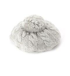 【シューラルー/SHOO・LA・RUE】ラメポンポン付きニットベレー帽[3000円(税込)以上で送料無料]