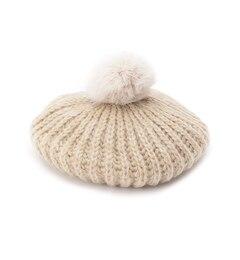 【シューラルー/SHOO・LA・RUE】ラビットポンポン付きニットベレー帽[3000円(税込)以上で送料無料]