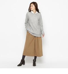 【シューラルー/SHOO・LA・RUE】 <3点セット>ニット×シャツ×ガウチョパンツ [3000円(税込)以上で送料無料]