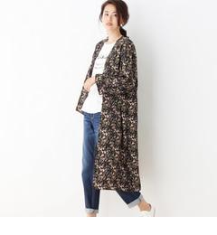 【シューラルー/SHOO・LA・RUE】 ロゴTシャツ+花柄シャツディガン [3000円(税込)以上で送料無料]