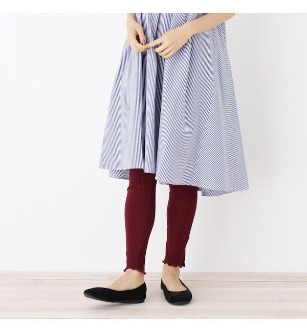 【シューラルー/SHOO・LA・RUE】 裾メローリブレギンスパンツ