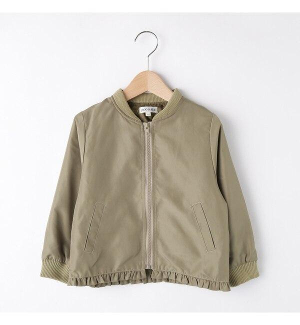 【シューラルー/SHOO・LA・RUE】 【90-120cm】ナイロンツイル裾フリルブルゾン