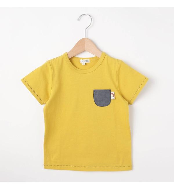 【シューラルー/SHOO・LA・RUE】 配色ステッチポケットTシャツ