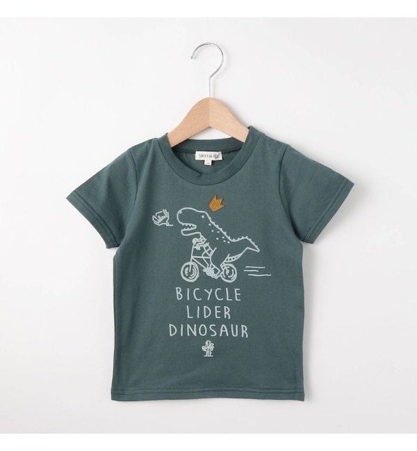 【シューラルー/SHOO・LA・RUE】 恐竜半袖Tシャツ