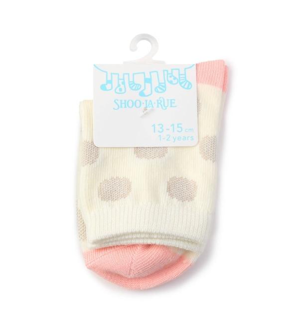 【シューラルー/SHOO・LA・RUE】 ドットバイカラーソックス
