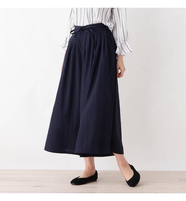 【シューラルー/SHOO・LA・RUE】 プリーツタック ワイドパンツ