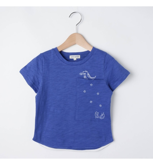 【シューラルー/SHOO・LA・RUE】 霜降りコットンTシャツ