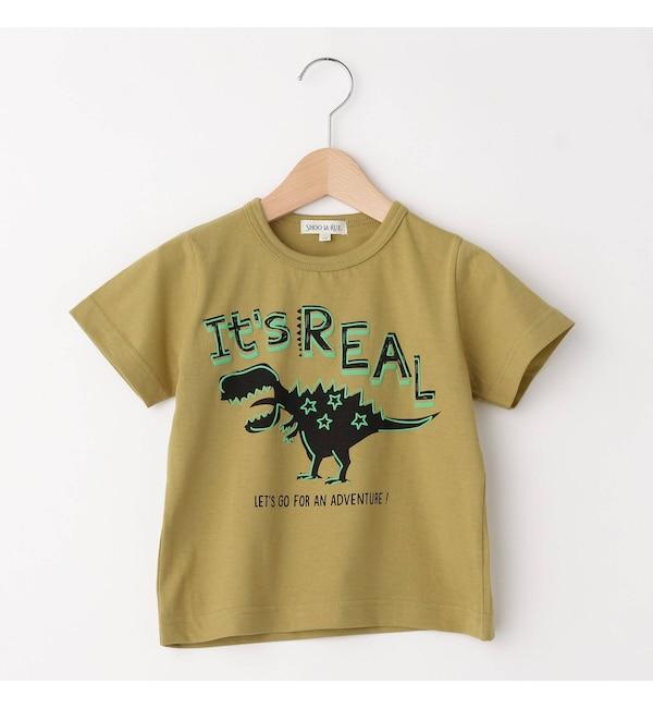 【シューラルー/SHOO・LA・RUE】 【80-130cm】天竺恐竜発泡Tシャツ