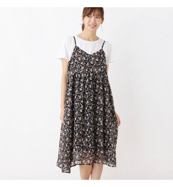【シューラルー/SHOO・LA・RUE】 【2点セット】キャミワンピース+Tシャツ