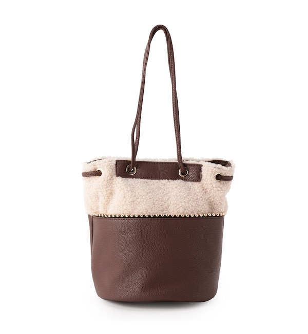 【シューラルー/SHOO・LA・RUE】 ボアミニストーン巾着バッグ