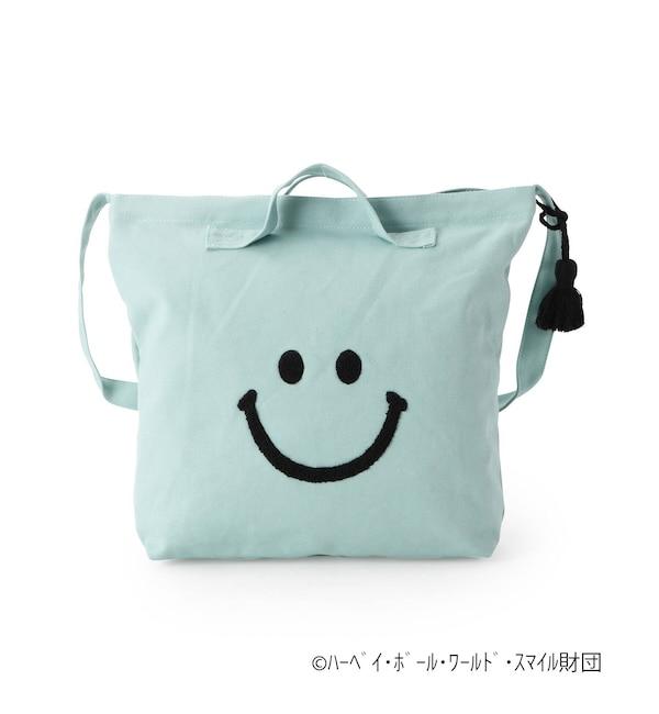 【シューラルー/SHOO・LA・RUE】 スマイリーフェイス キャンバス2WAYバッグ