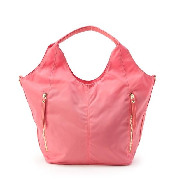 【スマート ピンク/smart pink】 2WAYサテンジップバッグ