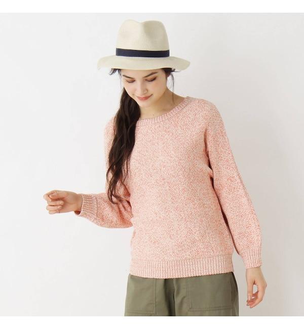 【ピンクアドベ/pink adobe】 テープヤーンドルマンニット