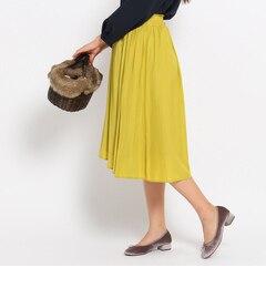 【デッサン/Dessin】 【洗える】【ウエストゴム】パウダーサテンスカート [送料無料]
