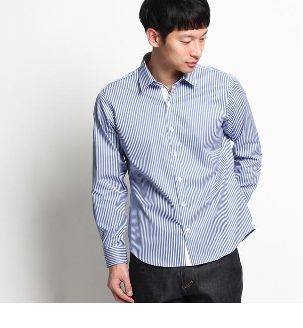 【デッサン/Dessin】 【洗える】ストライプシャツ [送料無料]