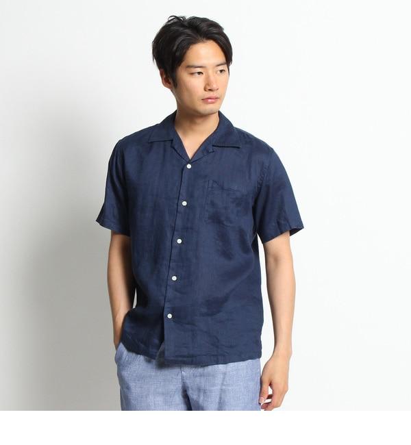 【デッサン/Dessin】 【洗える】リネン開襟シャツ [送料無料]