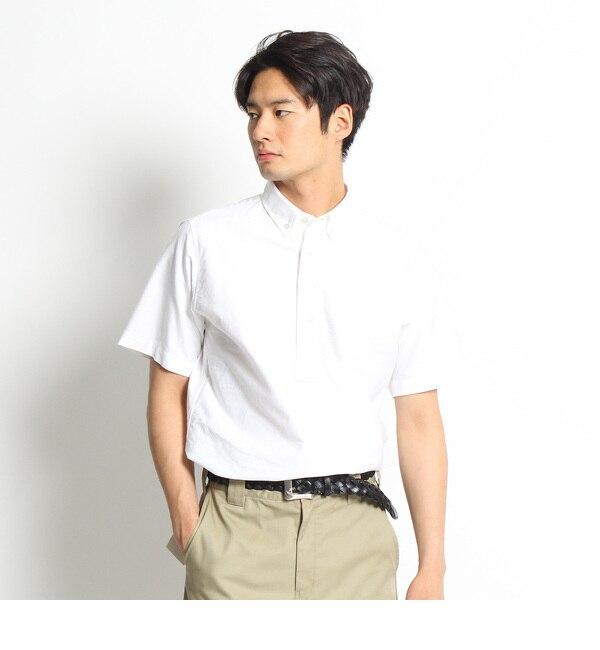 【デッサン/Dessin】 【洗える】半袖オックススプルオーバーシャツ [送料無料]