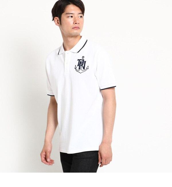 【デッサン/Dessin】 【洗える】アンカー刺繍ポロシャツ [送料無料]