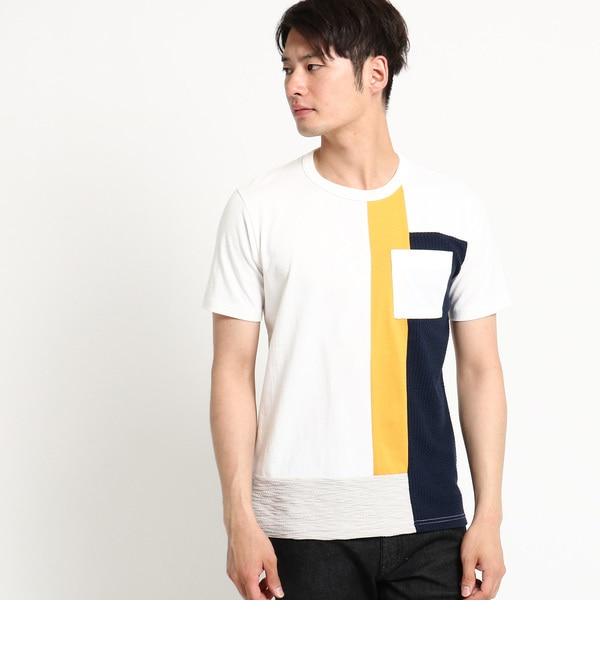 【デッサン/Dessin】 【洗える】フロントパッチワークTシャツ