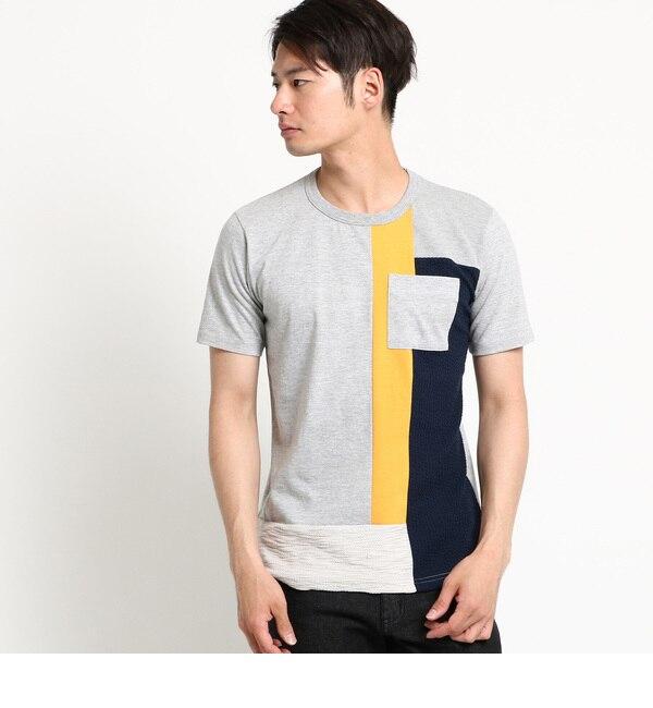 【デッサン/Dessin】 【洗える】フロントパッチワークTシャツ [送料無料]