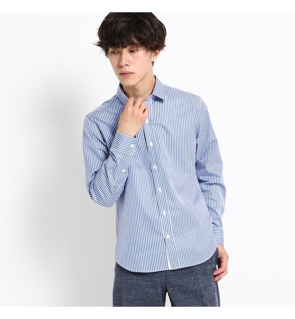 【デッサン/Dessin】 【洗える】トーマスメイソンストライプシャツ