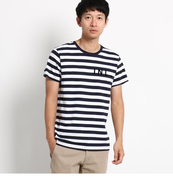 【デッサン/Dessin】 ボーダーロゴフロッキーTシャツ