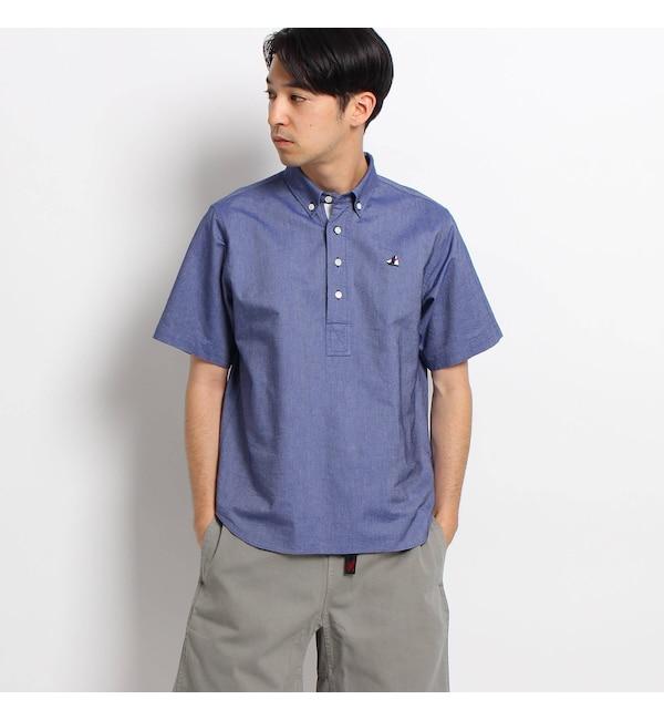 【デッサン/Dessin】 【洗える】ストレッチオックスプルオーバーシャツ