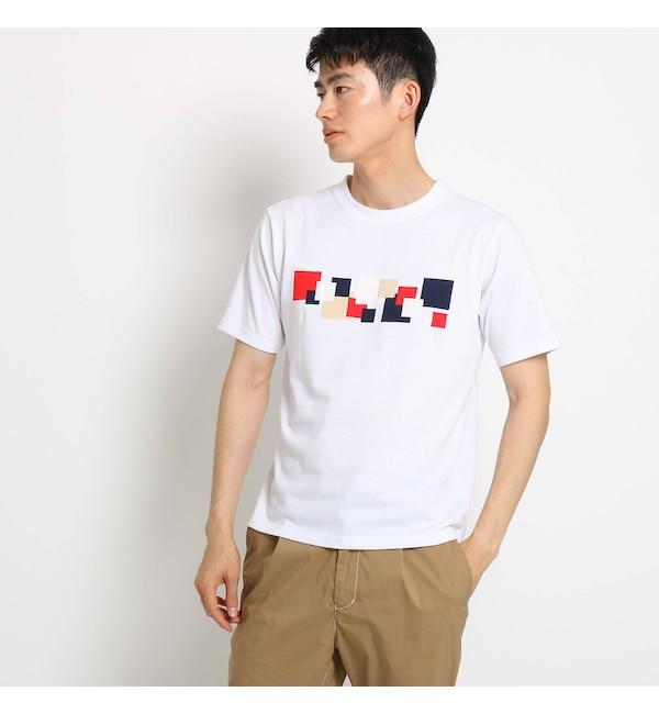 【デッサン/Dessin】 【洗える】【LLサイズあり】パッチワーク天竺Tシャツ