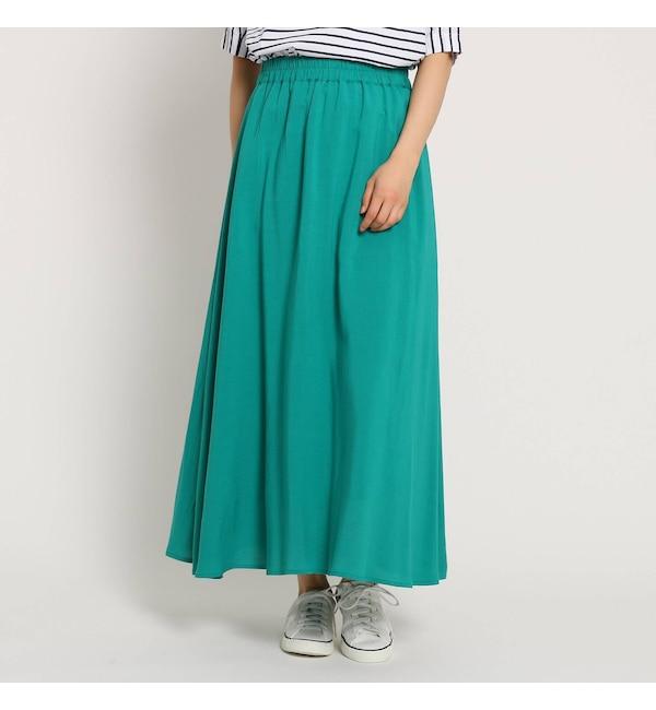 【デッサン/Dessin】 【Lサイズ、Sサイズあり・洗える】麻レーヨンフレアマキシスカート