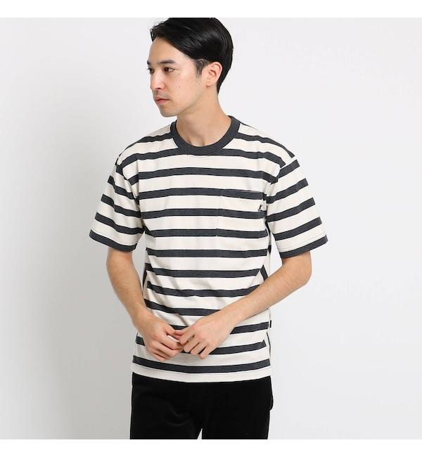 【デッサン/Dessin】 【抗菌・防臭加工】USAコットンボーダーTシャツ