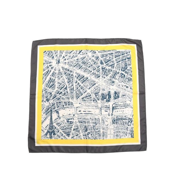 【デッサン/Dessin】 PARIマップデザインスカーフ