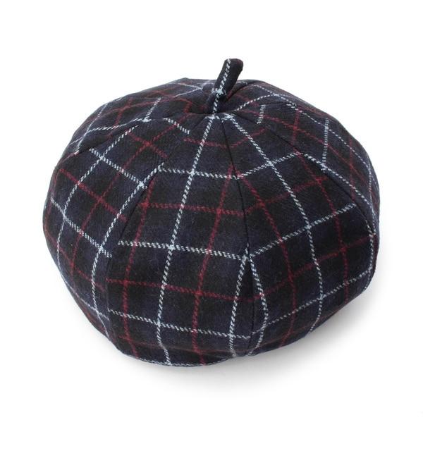 【イッツデモ/ITS'DEMO】 チェックベレー帽