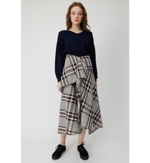 【マウジー/MOUSSY】 CHECK FLUTTER スカート