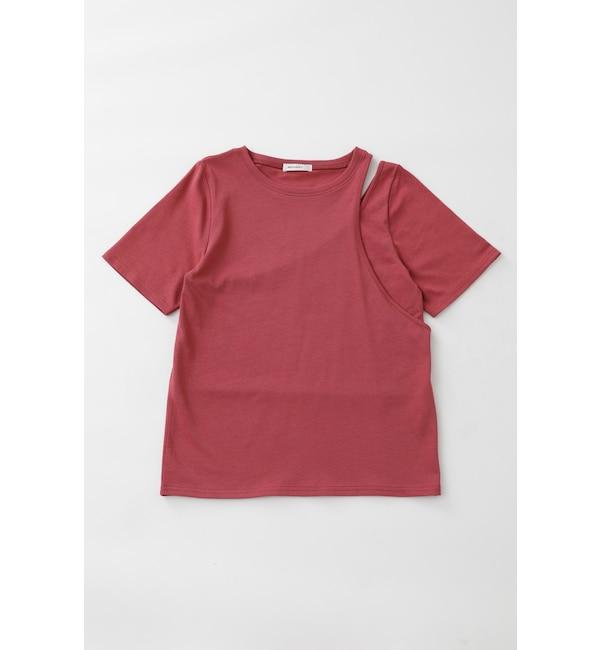 【マウジー/MOUSSY】 ASYMMETRY LAYERED Tシャツ