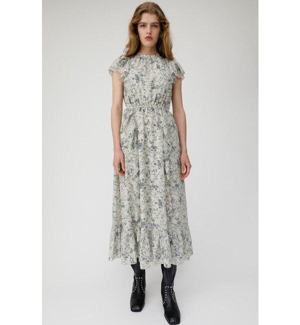 【マウジー/MOUSSY】 VINTAGE FLOWER CHIFFON ドレス